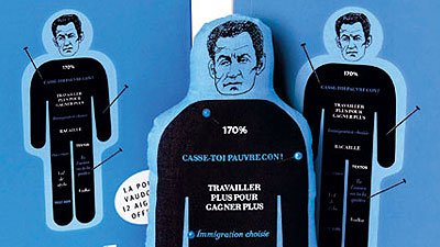 Voodoo doll of French President Sarkozy