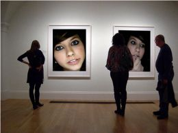 Boxxy art in a gallery