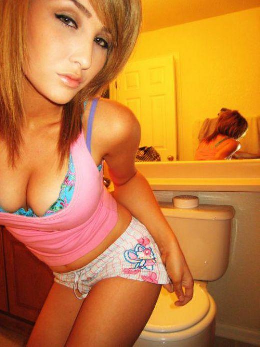 Emo Teen In Panties