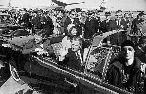 At the assassination of John. F. Kennedy.