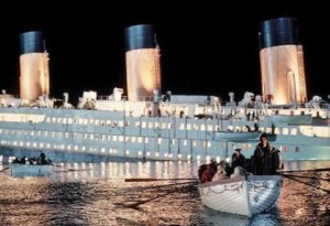 At the Titanic.
