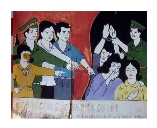 """""""Shame"""" - Propaganda sighn in China, Joe Gatling/flickr"""