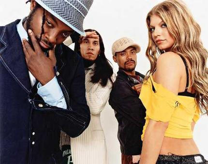 Black Eyed Peas comin/ to get you, Paris Hilton.  Run away, run away!