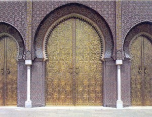 One palace's doors.